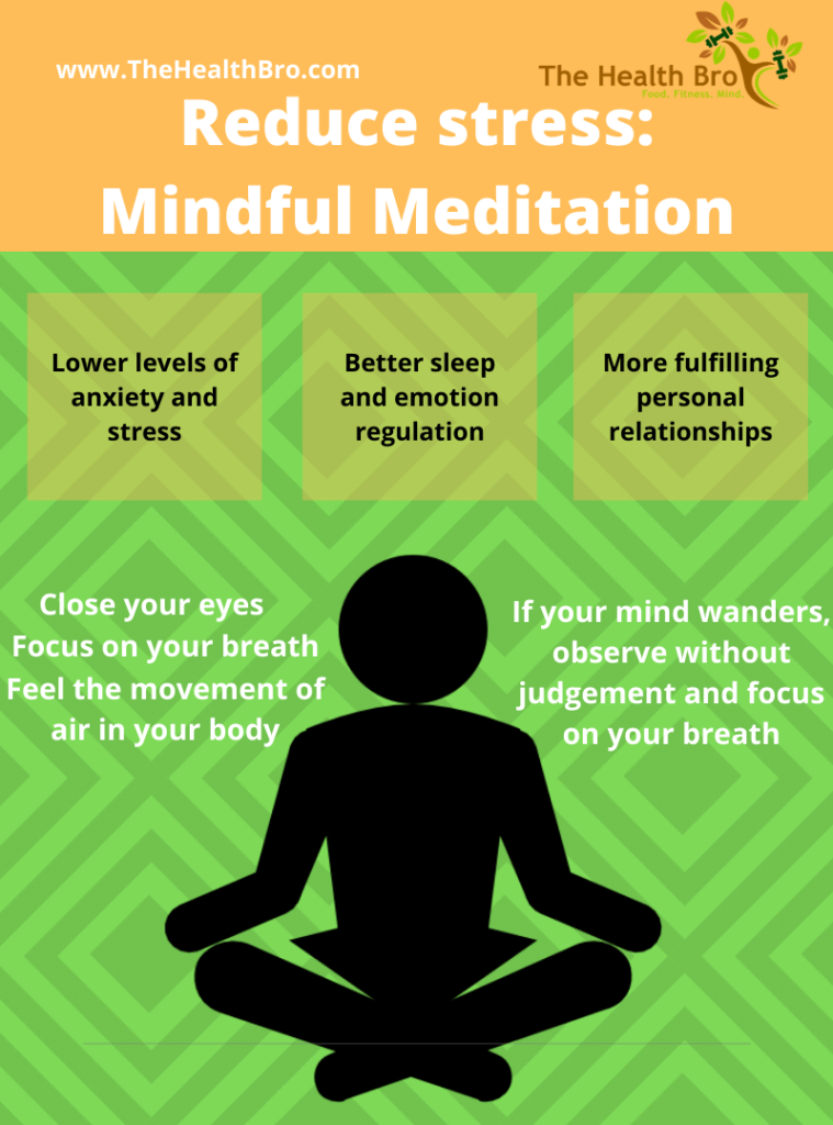 Reduce stress by meditating. Focus on your breath.
