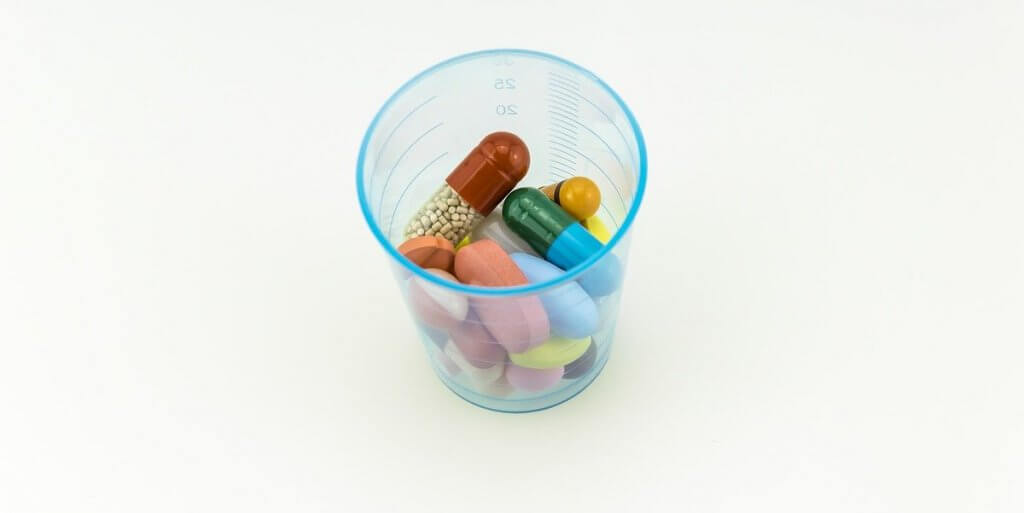 cup full of pills